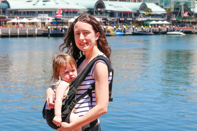 babywearing at darling harbour