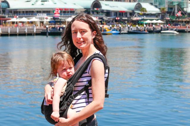 babywearing at darling harbour