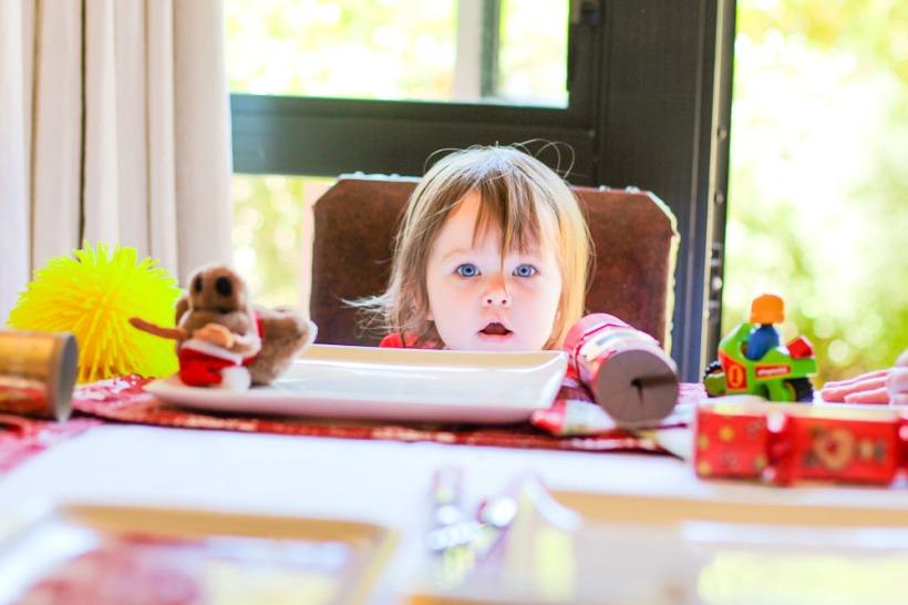 bubba at christmas table