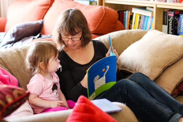 bubba reading with nana